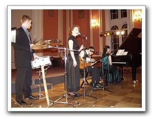 Melanie Fleck bei einem Konzert in Berlin