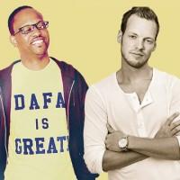 Der Rapper Rise-Ascend (links) aus Washington D.C. und sein Produzent Direction (rechts) aus Kalmar haben sich noch nie persönlich getroffen.